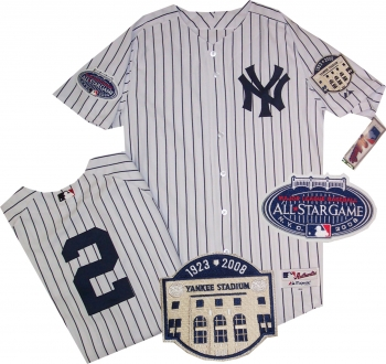 38c3d20eb New York Yankees Derek Jeter Authentic Home 2 Patch Jersey ...