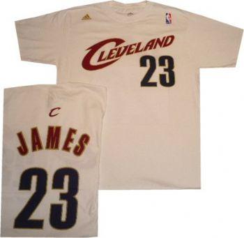 pretty nice 5e4b2 315a9 Cleveland Cavaliers Lebron James Adidas White Shirt Jersey ...