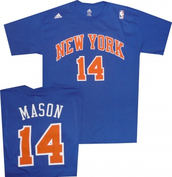 wholesale dealer 1cf82 8ef95 New York Knicks Anthony Mason Throwback T Shirt Jersey by ...