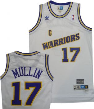 7d1705e178cf1 Golden State Warriors Chris Mullin White Throwback Swingman Jersey |  StadiumStyle.com