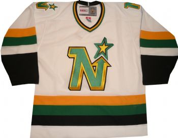 Minnesota North Stars Vintage Throwback CCM White Jersey ... 1df7fa81753