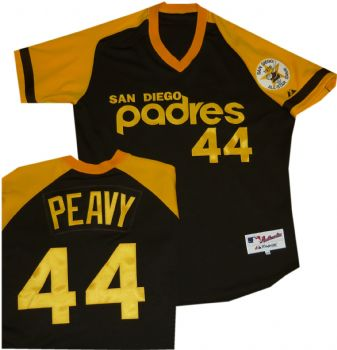 buy online ed46c da436 San Diego Padres Jake Peavy Authentic Throwback Jersey ...