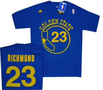 quality design 2a598 94287 Golden State Warriors Mitch Richmond Adidas Royal Blue ...