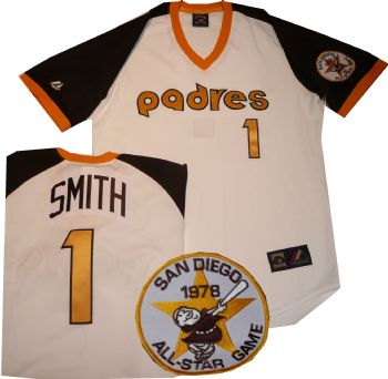 timeless design e1b55 fe2f8 San Diego Padres Ozzie Smith Throwback Vintage Jersey ...