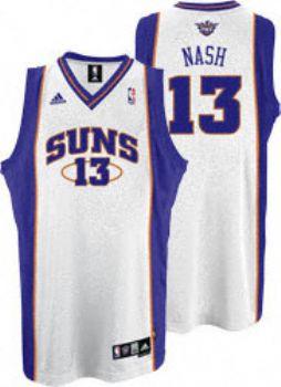 huge discount 4a43d b0a6c Phoenix Suns Steve Nash White Adidas Swingman Jersey ...