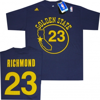 Golden state warriors mitch richmond navy throwback adidas for Richmond t shirt printing
