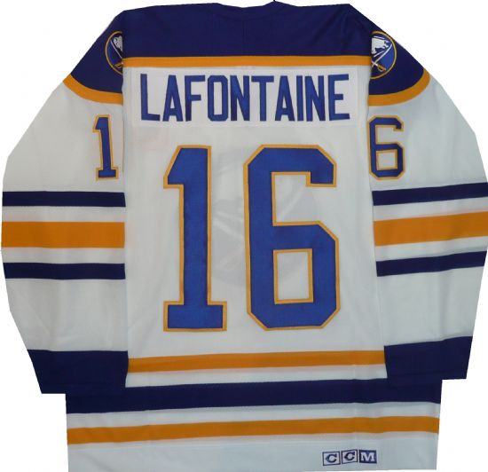 Pat LaFontaine Buffalo Sabres Vintage Throwback White Jersey ... e118182d8