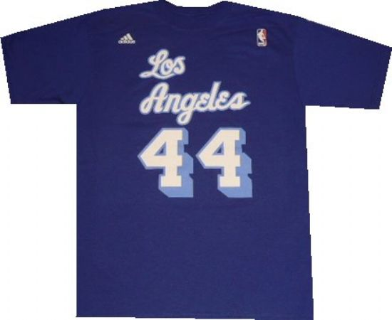 70b395ea244 Los Angeles Lakers Jerry West Throwback Adidas T Shirt ...