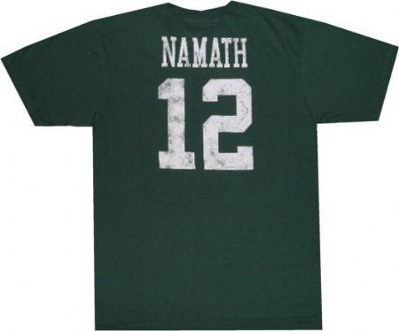 best sneakers 480ab ab3ae New York Jets Joe Namath Distressed Print Reebok T Shirt ...