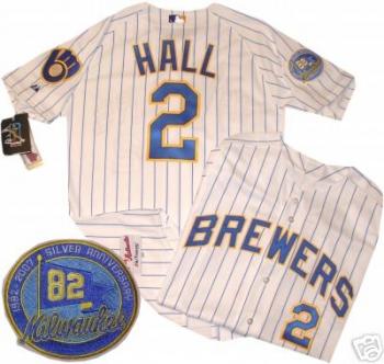 b3444e6e8 Bill Hall 1982 Milwaukee Brewers Authentic Jersey