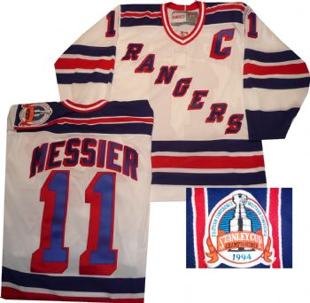 buy popular 3093d fe27e New York Rangers Mark Messier Vintage White Vintage Jersey ...