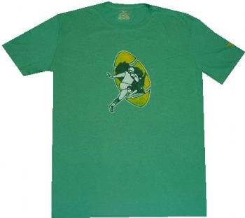 Green Bay Packers Reebok Throwback Vintage Retro Slim Fit T Shirt ... 83c18d288