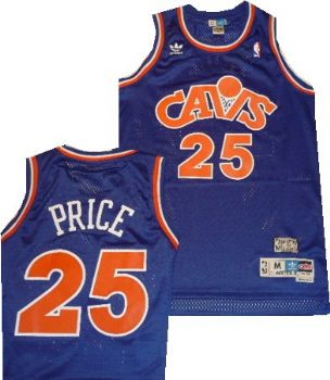newest collection a7081 3ec50 Cleveland Cavaliers Mark Price Throwback Blue Swingman ...