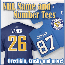 NHL Name and Number Tees